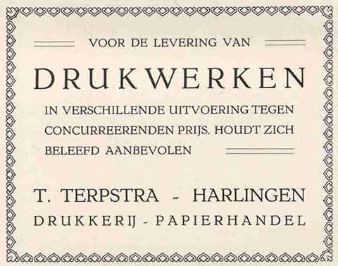 Advertentie Hoogstraat 12, Harlingen