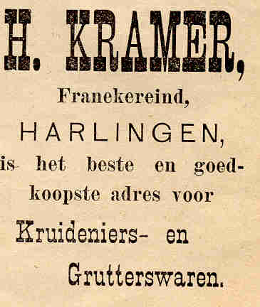 Advertentie Franekereind 20, Harlingen