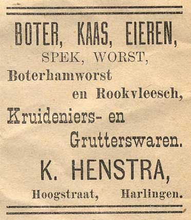 Advertentie Hoogstraat 20, Harlingen