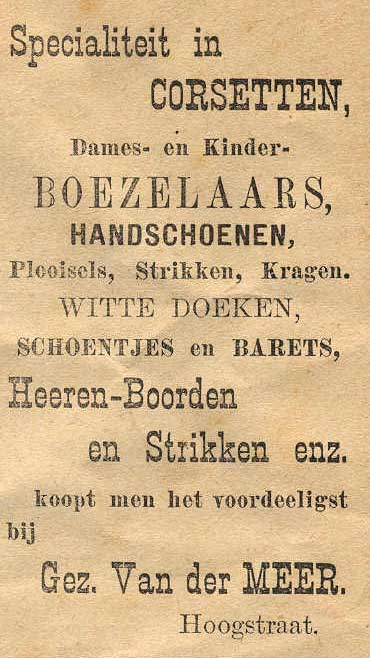 Advertentie Hoogstraat 29, Harlingen
