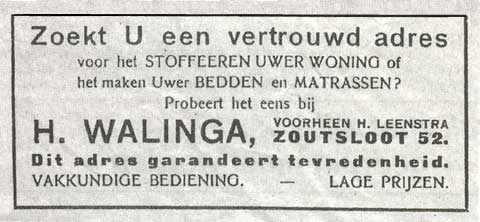Advertentie Zoutsloot 52, Harlingen