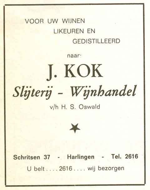 Advertentie Schritsen 37, Harlingen