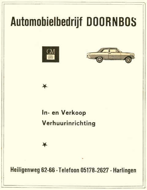 Advertentie Heiligeweg 66, Harlingen