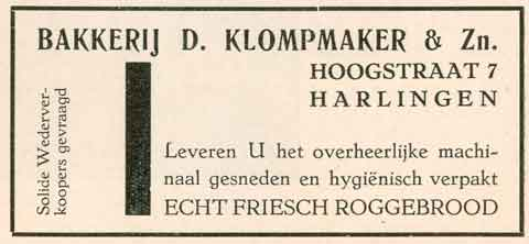 Advertentie Hoogstraat 7, Harlingen