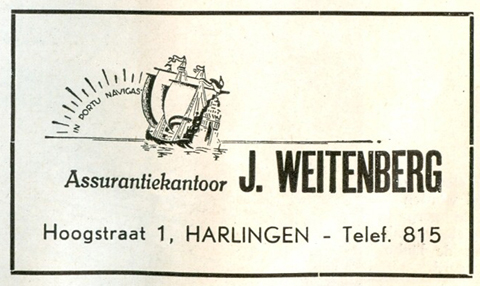 Advertentie Hoogstraat 1, Harlingen