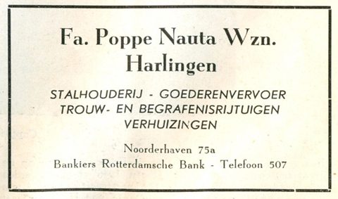 Advertentie Noorderhaven 75, Harlingen