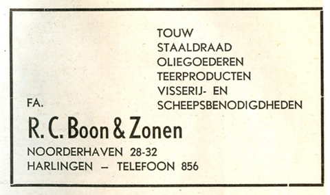 Advertentie Noorderhaven 28, Harlingen