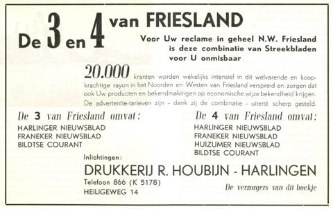 Advertentie Heiligeweg 14, Harlingen
