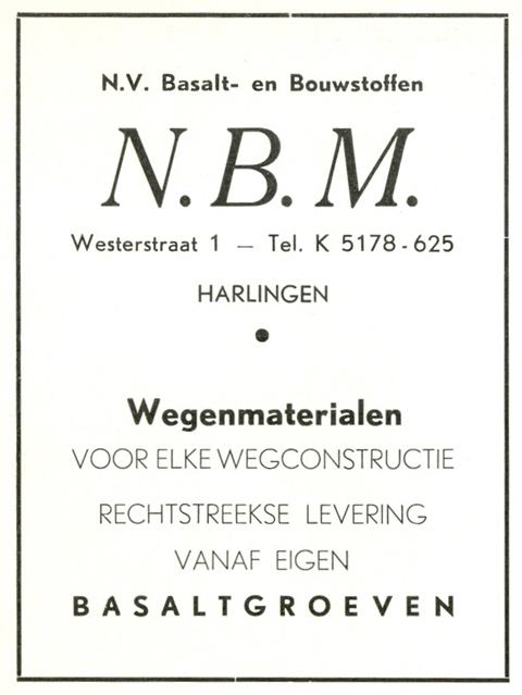 Advertentie Westerstraat 1, Harlingen