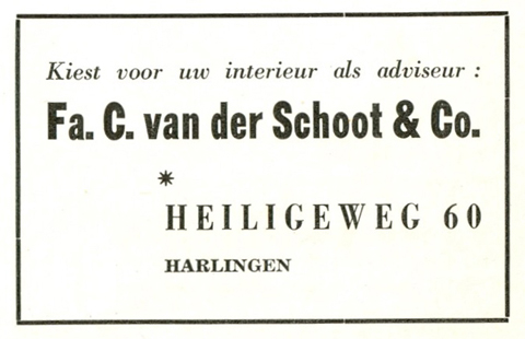 Advertentie Heiligeweg 60, Harlingen
