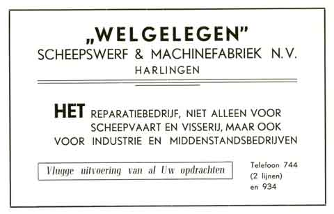 Advertentie Zuiderhaven , Harlingen