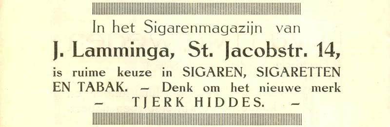 Advertentie Sint Jacobstraat 14, Harlingen