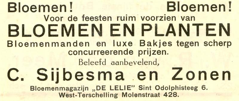 Advertentie Sint Odolphisteeg 6, Harlingen