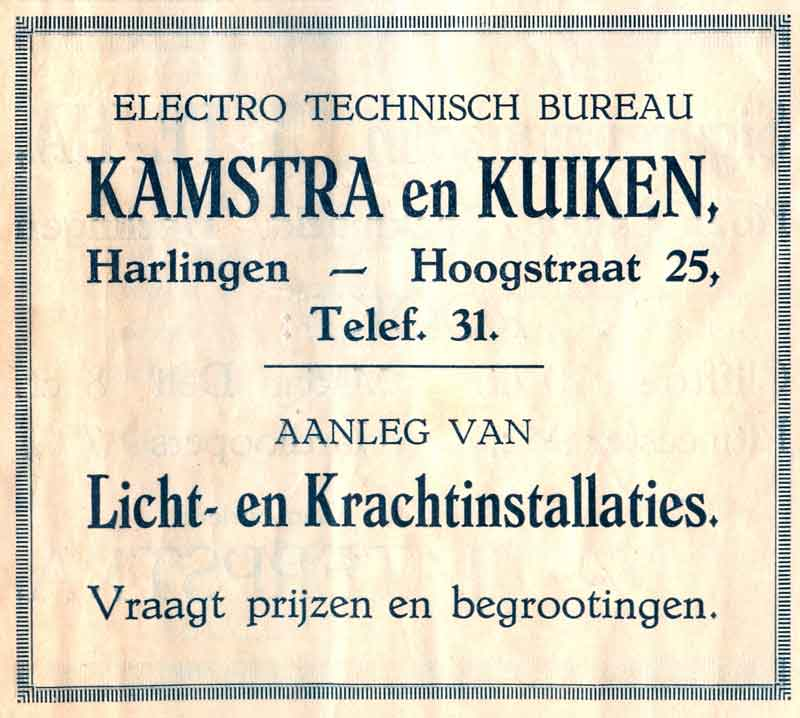 Advertentie Hoogstraat 25, Harlingen
