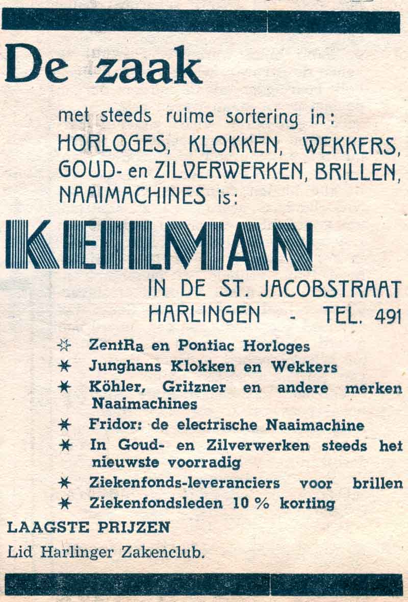 Advertentie Sint Jacobstraat 3, Harlingen