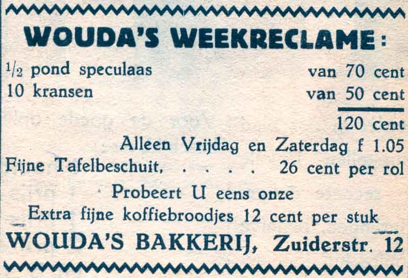 Advertentie Zuiderstraat 12, Harlingen