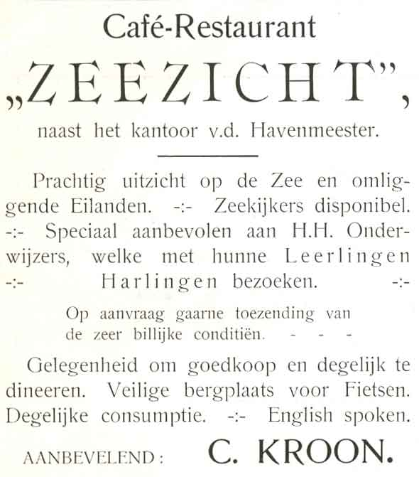 Advertentie Zuiderhaven 1, Harlingen