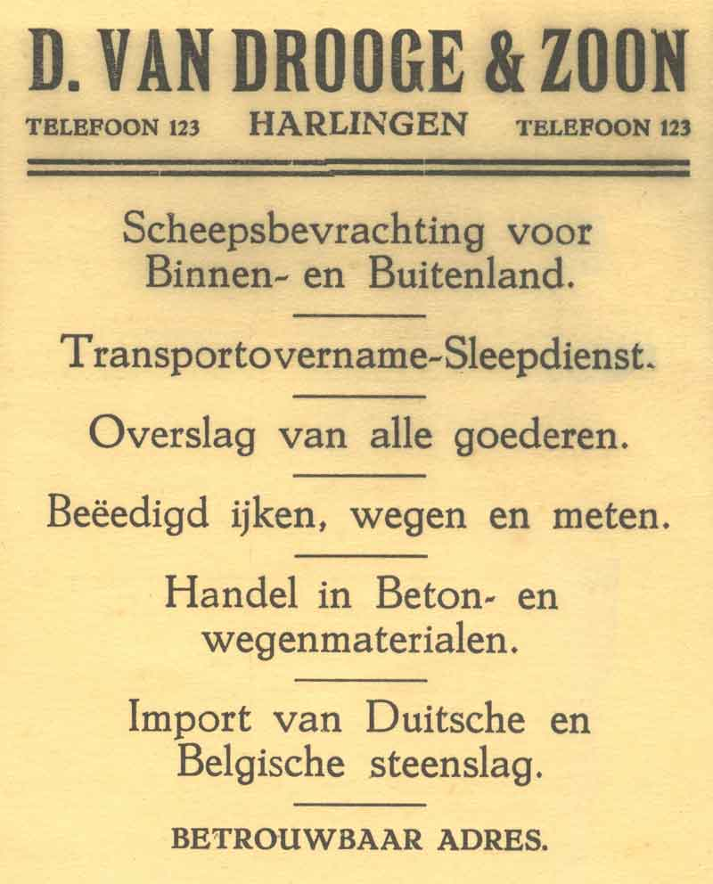 Advertentie Lanen 9, Harlingen