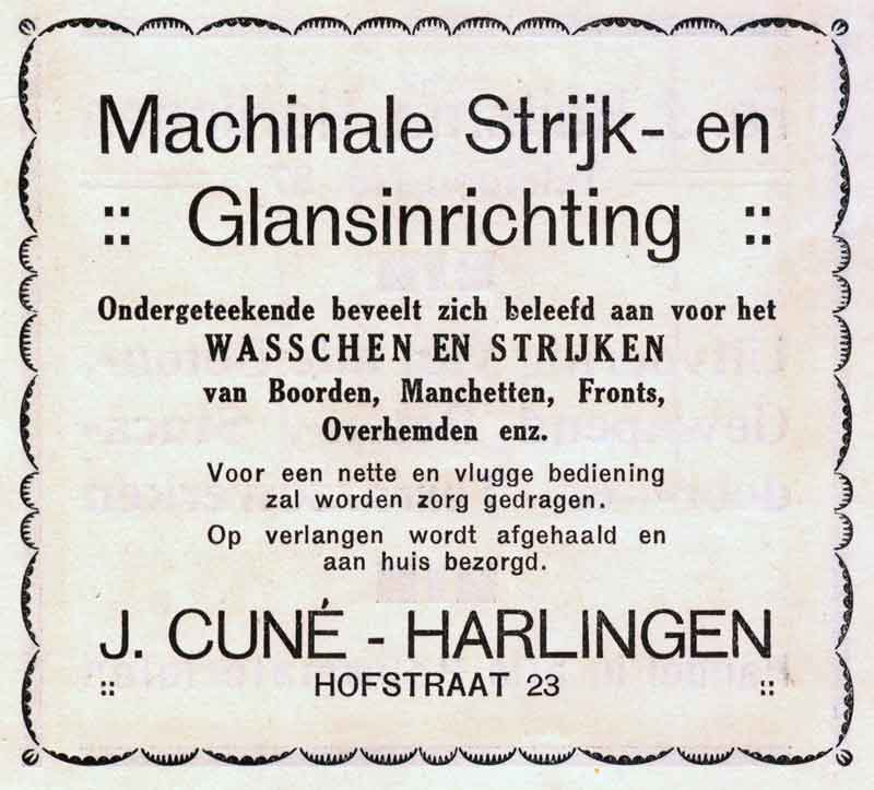 Advertentie Hofstraat 23, Harlingen