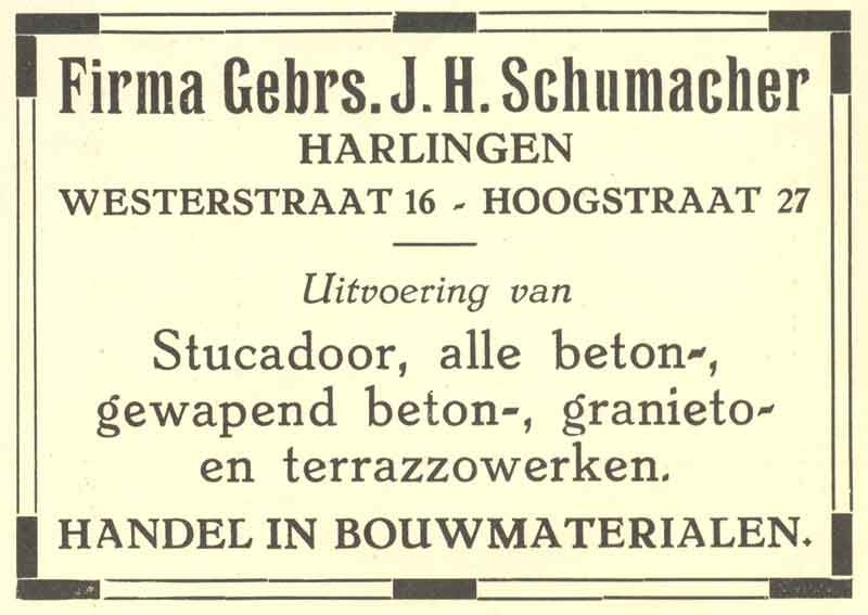 Advertentie Hoogstraat 27, Harlingen