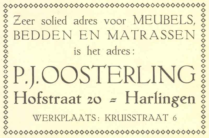Advertentie Hofstraat 20, Harlingen