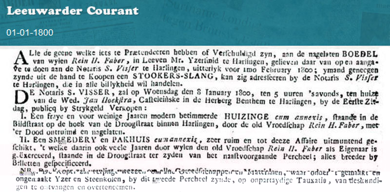 Advertentie Bildtstraat 21, Harlingen