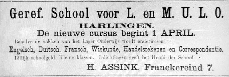 Advertentie Franekereind 7, Harlingen
