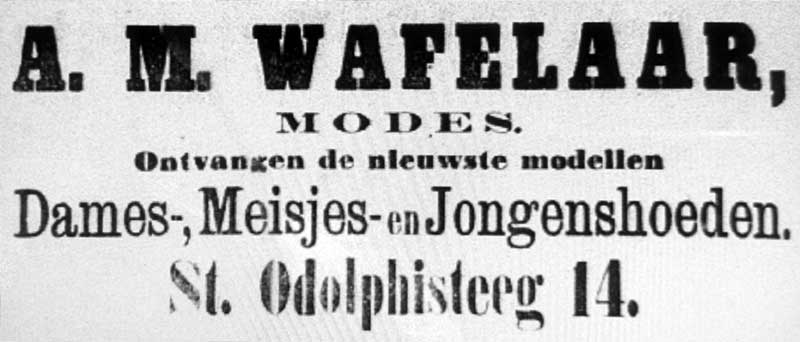 Advertentie Sint Odolphisteeg 14, Harlingen
