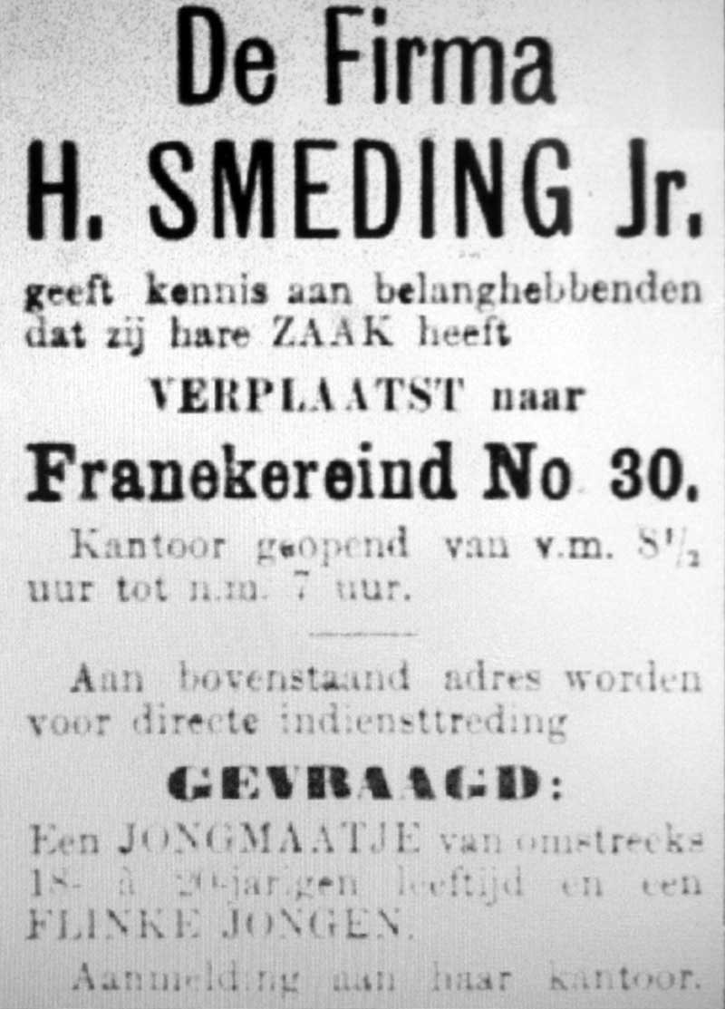 Advertentie Franekereind 30, Harlingen