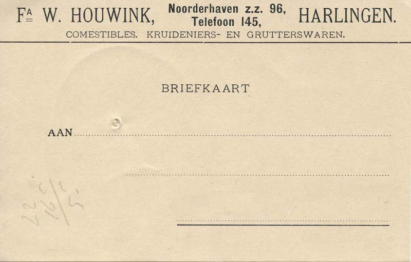 Briefhoofd Noorderhaven 96, Harlingen