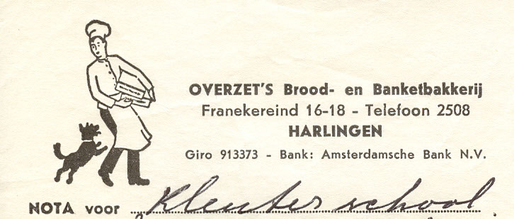 Briefhoofd Franekereind 16, Harlingen